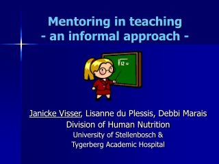 Discussion Forum Used As A Mentoring Program