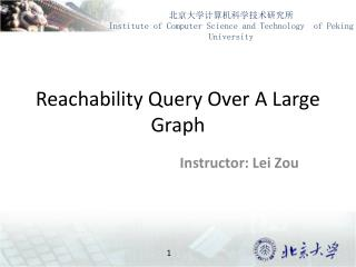 Reachability Query Over A Large Graph