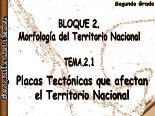 BLOQUE 2. Morfología del Territorio Nacional