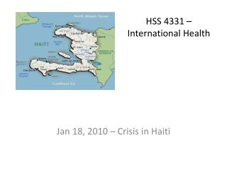 HSS 4331 – International Health