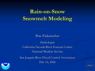 Rain-on-Snow Snowmelt Modeling