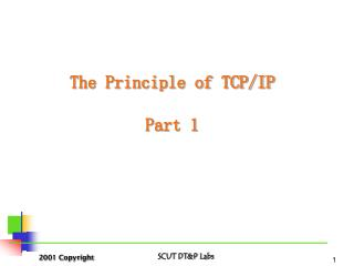 The Principle of TCP/IP Part 1