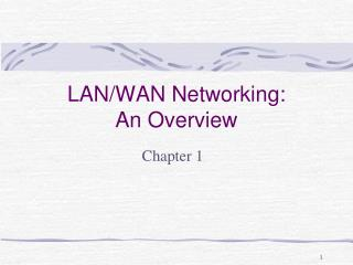 LAN/WAN Networking: An Overview