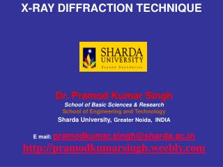 X-RAY DIFFRACTION TECHNIQUE
