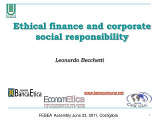 Ethical  finance and corporate social  responsibility