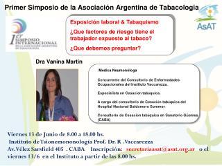 Primer Simposio de la Asociaci�n Argentina de Tabacologia