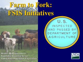 Heather Hicks Quesenberry Food Safety Inspection Service United States Department of Agriculture