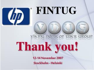 12-14 November 2007 Stockholm - Helsinki