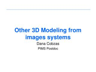 Other 3D Modeling from images systems