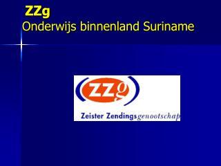 ZZg Onderwijs binnenland Suriname