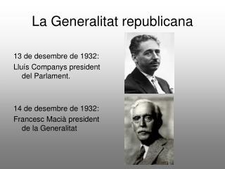 La Generalitat republicana