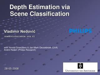 Depth Estimation via Scene Classification