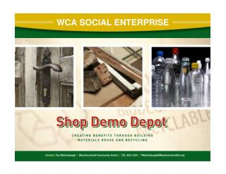 WCA SOCIAL ENTERPRISE