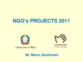 NGO's PROJECTS 2011