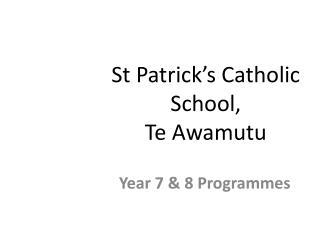 St Patrick's Catholic School, Te Awamutu