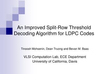 An Improved Split-Row Threshold Decoding Algorithm for LDPC Codes