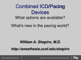 Combined ICD/Pacing Devices