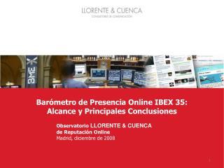 Barómetro de Presencia Online IBEX 35: Alcance y Principales Conclusiones