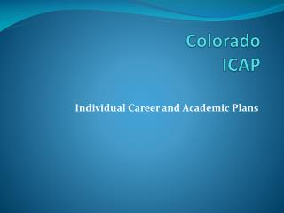 Colorado  ICAP
