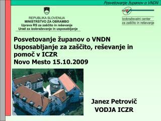Janez Petrovič VODJA ICZR