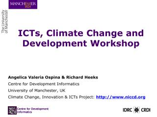 ICTs, Climate Change and Development Workshop