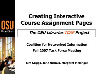 Creating Interactive Course Assignment Pages