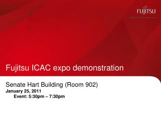 Fujitsu ICAC expo demonstration