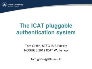 The  ICAT pluggable  authentication system