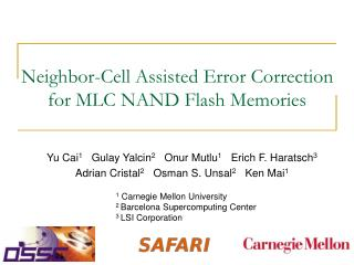 Neighbor-Cell Assisted Error Correction  for MLC NAND Flash Memories