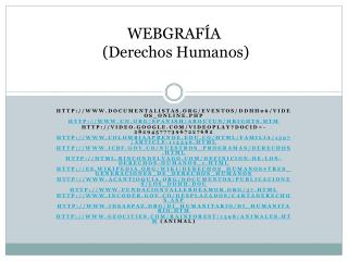 WEBGRAFÍA (Derechos Humanos)