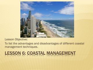 Lesson 6: Coastal Management