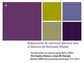Elaboración de informes alternos ante el Sistema de Naciones Unidas