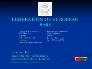 FEDERATION OF EUROPEAN BARS