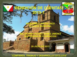 RENDICIÓN DE CUENTAS 2013-1