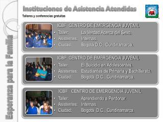 instituciones de asistencia