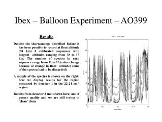 Ibex – Balloon Experiment – AO399