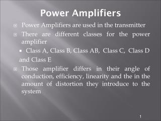 Power Amplifiers