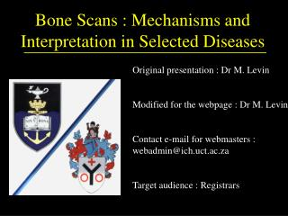 Bone Scans : Mechanisms and Interpretation in Selected Diseases