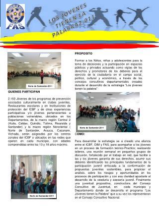 LOS JOVENES         TIENEN LA PALABRA2.011