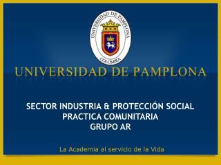 SECTOR INDUSTRIA & PROTECCIÓN SOCIAL PRACTICA COMUNITARIA GRUPO AR