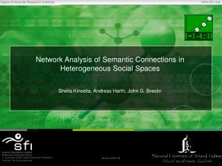 Network Analysis of Semantic Connections in Heterogeneous Social Spaces