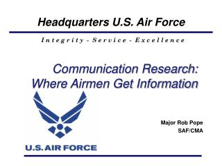 Communication Research: Where Airmen Get Information