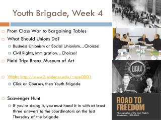Youth Brigade, Week 4
