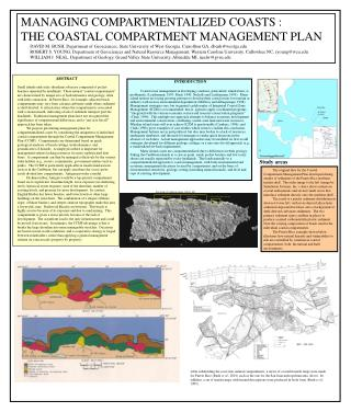 MANAGING COMPARTMENTALIZED COASTS : THE COASTAL COMPARTMENT MANAGEMENT PLAN
