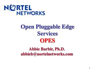 Open Pluggable Edge Services OPES