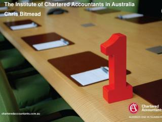 The Institute of Chartered Accountants in Australia Chris Bitmead