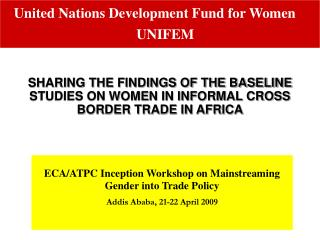 ECA/ATPC Inception Workshop on Mainstreaming Gender into Trade Policy