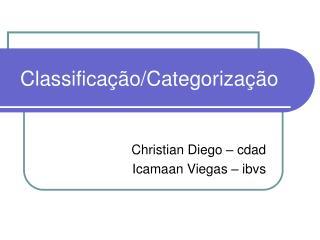 Classificação/Categorização