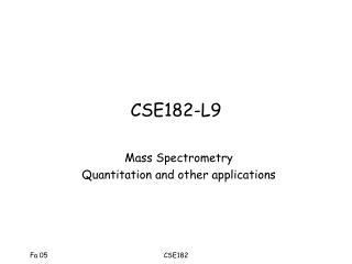 CSE182-L9