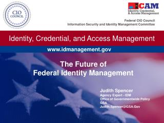 The Future of  Federal Identity Management